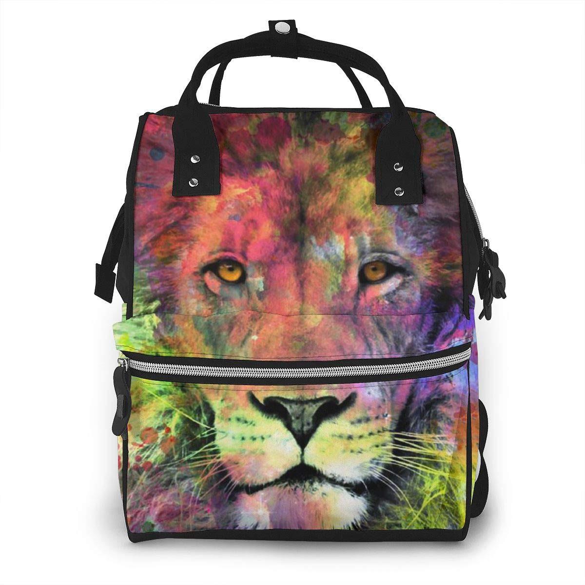 TYTland Lion Oil Painting Durable Multi-Function Waterproof Baby Diaper Backpacks by TYTland