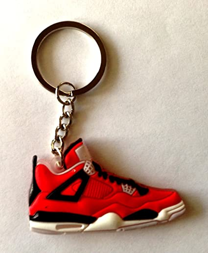sports shoes e2e33 b65ab Amazon.com   Air Jordan 4 IV Retro Toro Bravo Red Sneakers Shoes 2D  Keychain Keyring   Everything Else