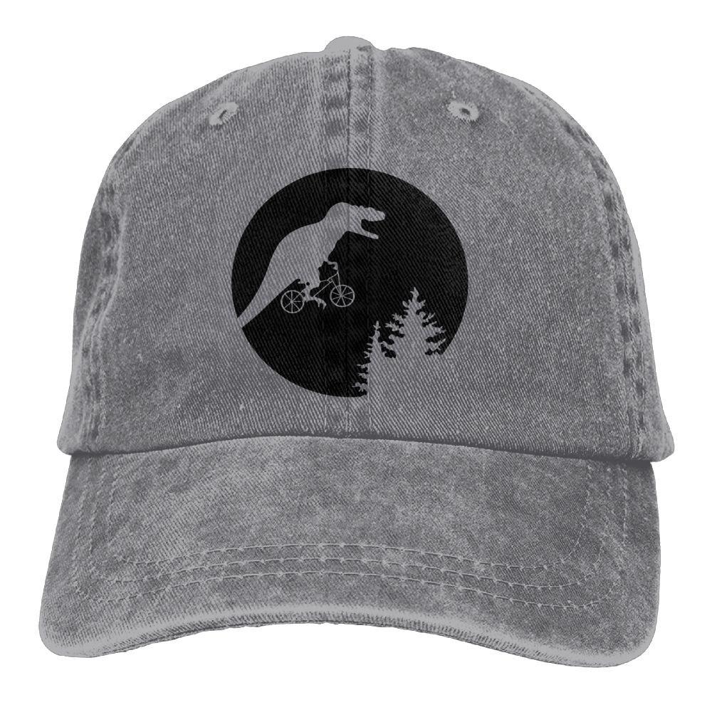 T-Rex Moon Plain Adjustable Cowboy Cap Denim Hat for Women and Men