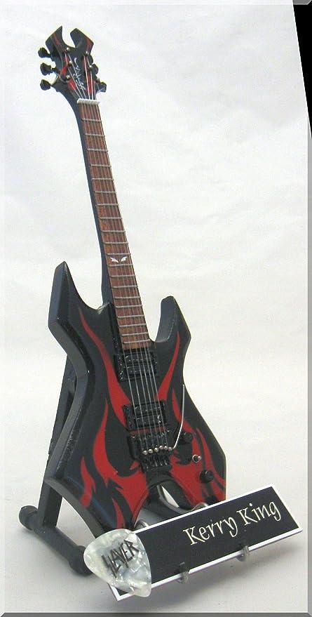 KERRY KING Guitarra miniatura con etiqueta de nombre Slayer BC ...