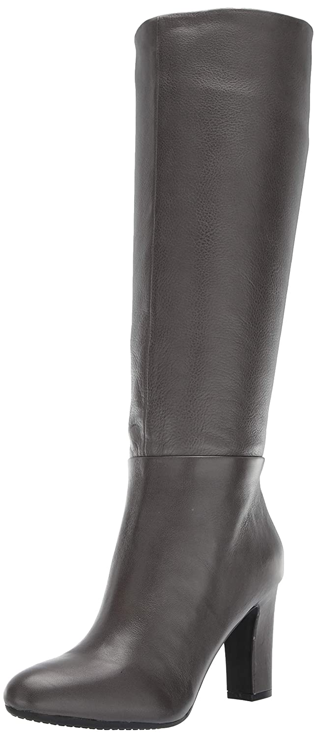 Grey Leather Aerosoles Womens Hashtag Knee High Boot