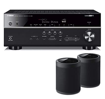 Yamaha RX-V685 7.2-Channel AV Receiver with MusicCast - with 2 Pack WX
