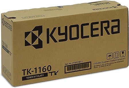 Kyocera Tk 1160 Original Toner Cartridge Black 1t02ry0nl0 Compatible With Ecosys P2040dn Ecosys P2040dw Bürobedarf Schreibwaren