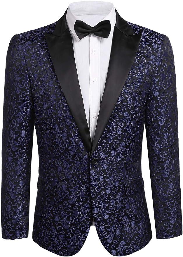 JINIDU Men's Floral Tuxedo