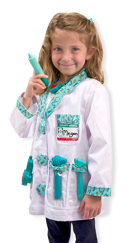 Amazon.com: Melissa & Doug Doctor Role Play Costume Dress-Up Set ...