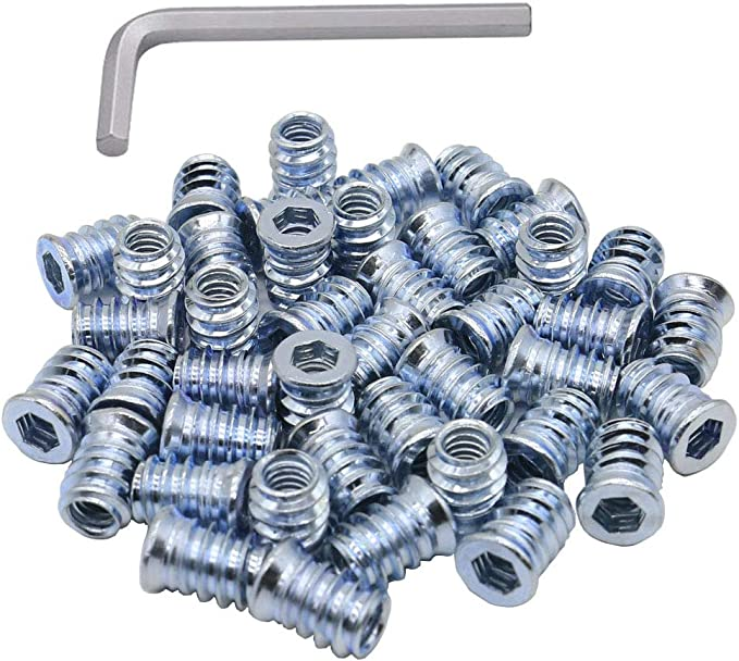 Natural 1//4-20 in ID Set of 10 WMS Racing Products Aluminum 3//8 in OD Threaded Nut Insert