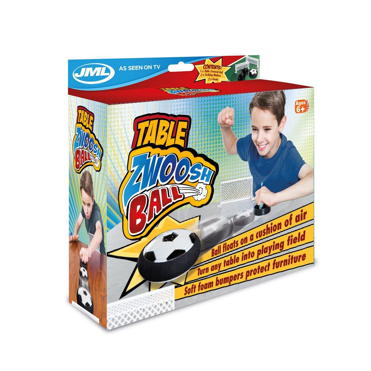 JML Table Zwoosh Ball Fun Air Hockey Table Game with Air Padding Cushion Ball 5020044800768