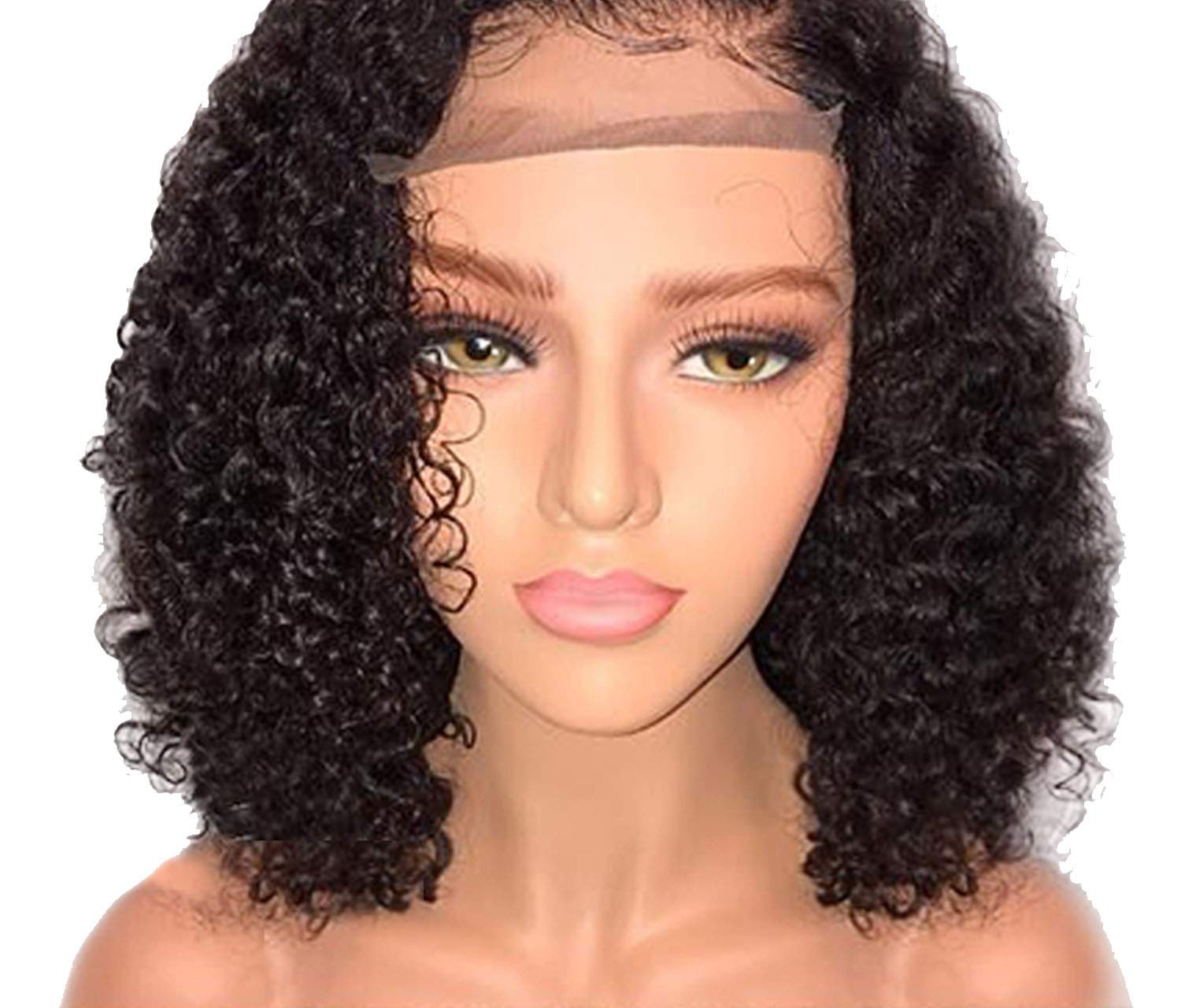 Lace Front Human Hair Wigs Pre Plucked With Baby Hair Curly Hair Lace Front Wigs Tshirt,Natural Color Tshirt,14inches Tshirt,150%