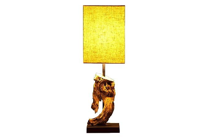 DuNord Design Lámpara de mesa Madera con pinchos schwemmholz ...