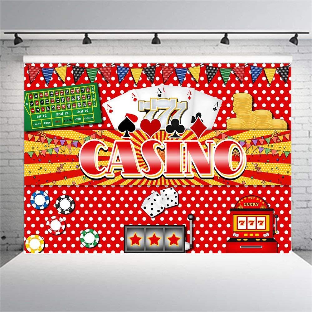 Decoración de Casino para Fiesta de cumpleaños, Fondo de ...
