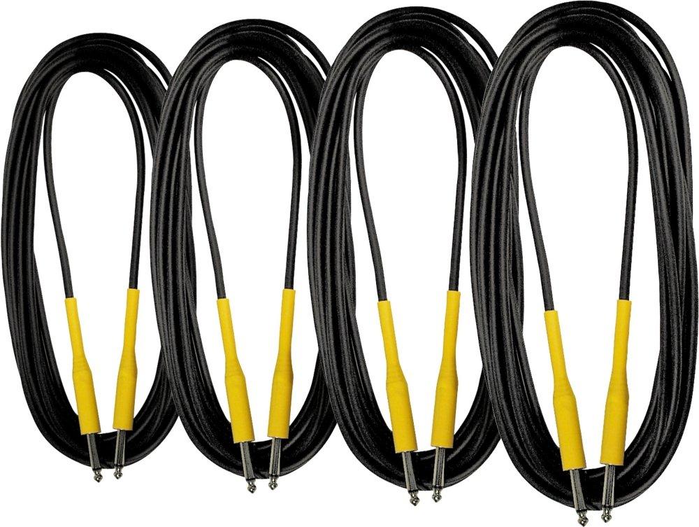 人気 Musician 's Gear 20 20 ft。Instrument Cable, 4 Gear - Pack Pack ブラック CI-200-20 4-Pack KIT ブラック B0064RCRX6, Hana momo:0a2f0439 --- aemmontagens.com.br