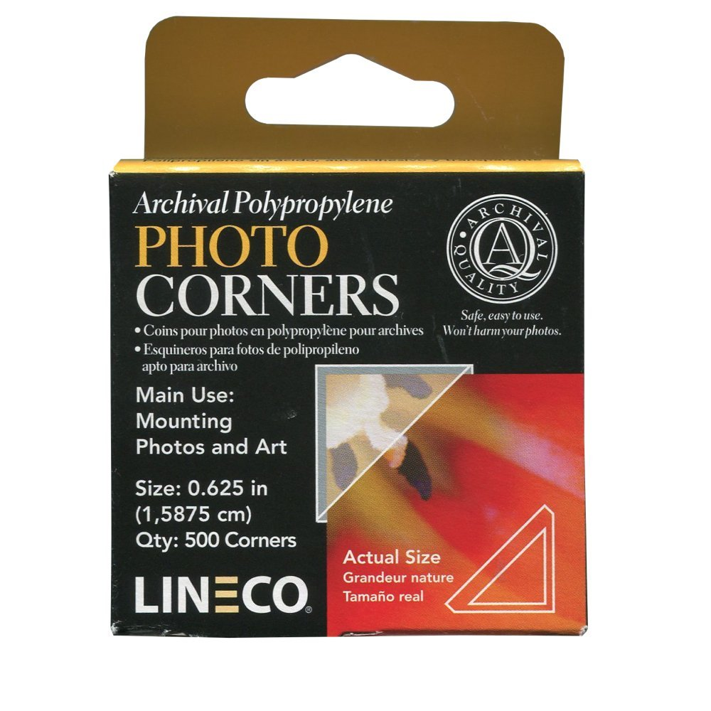 Lineco Polypropylene .625In Mounting Corners 500 Pkg