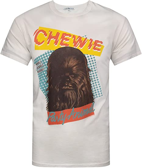 Star Wars PARTY ANIMAL Chewbacca T-Shirt Men/'s Tee Officially Licensed