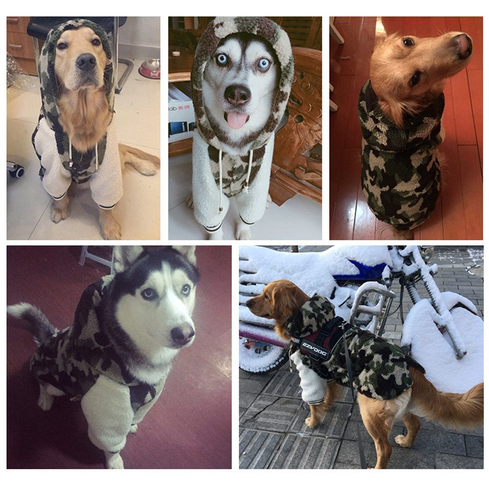 perfecto para oto/ño e invierno de estilo dorado para perros grandes como labrador o collie Disfraz de cachemira para mascotas de Kuuboo