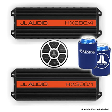 JL Audio hx280/4 y HX300/1 amplificadores y mbt-crx Bluetooth ...