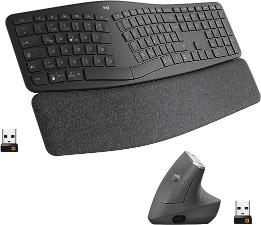 Logitech Ergonomic Wireless Keyboard And Mouse Combo Computer Zubehör