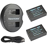 Newmowa LP-E17 Battery (2 pack) and Dual USB Charger Kit for Canon EOS M3 750D 760D Rebel T6i T6s 8000D Kiss X8i Digital Cameras(Half-Decoded)