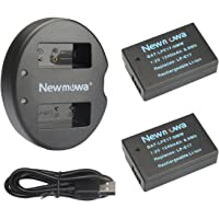 LP-E17 Newmowa Battery (2 Pack) and Dual USB Charger Kit for Canon EOS M3 750D 760D Rebel T6i T6s 8000D Kiss X8i Digital…