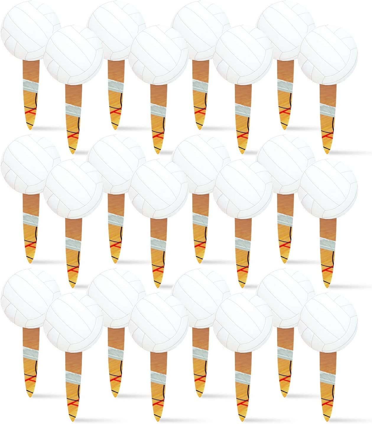 Volleyball Food Picks (24 Pack) Volleyball Party Collection by Havercamp