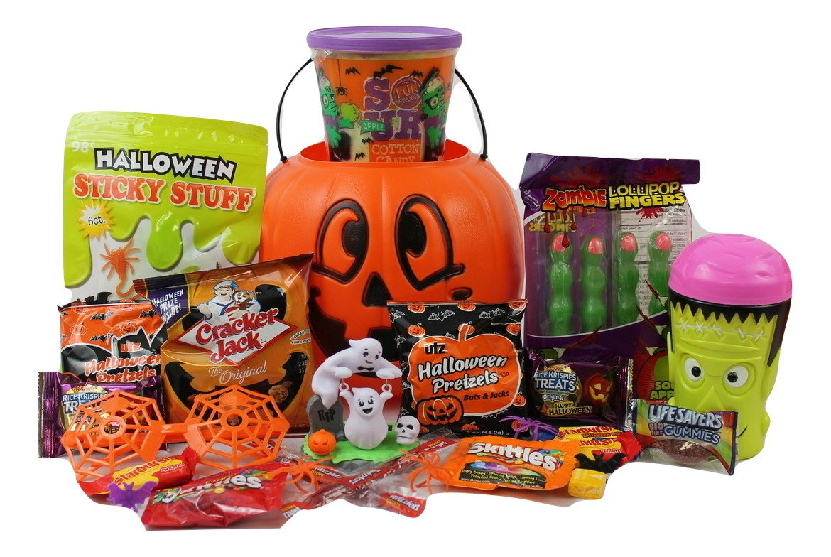 Happy Halloween Gift Pumpkin Basket!!! Toys and Candy BOO!!! FILLED TO THE TOP!! by Gifts Unlimited