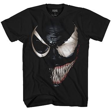 7ff2b1fcbf6f3d Marvel Venom Spider-Man Spiderman Avengers Villain Comic Book Adult Mens  Graphic T-Shirt