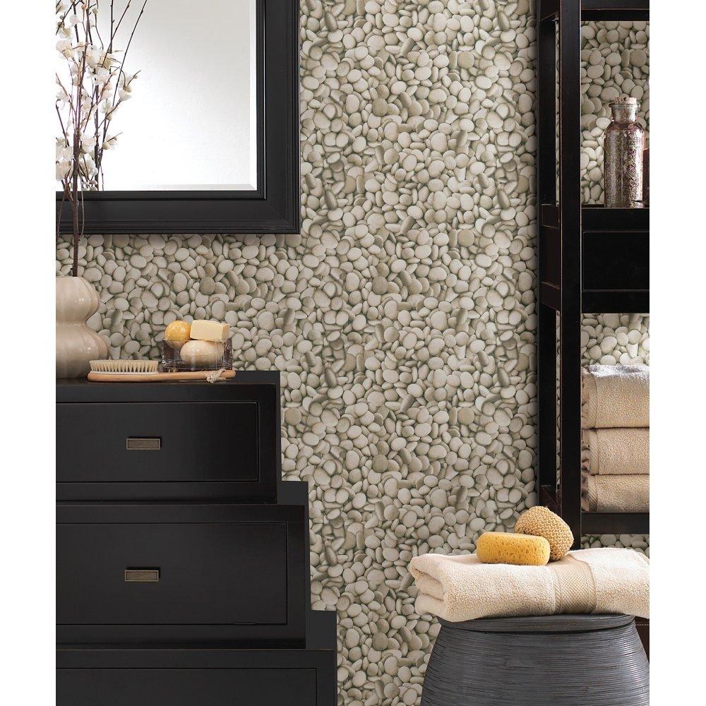 Fine Decor Brewster Rustic Easy Texture Pebble Stone Effect Luxury 10M Wallpaper Roll by Fine Decor (Image #2)