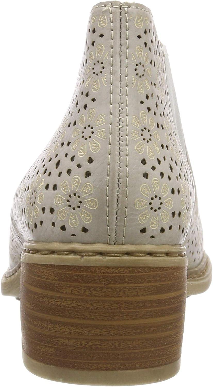 Rieker 57696-80, Botas Chelsea para Mujer Blanco Ice 80 Tbts5521
