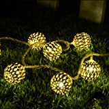 Ball Shape Warm White 20-LED String Lamp Lights For Christmas Diwali Decoration