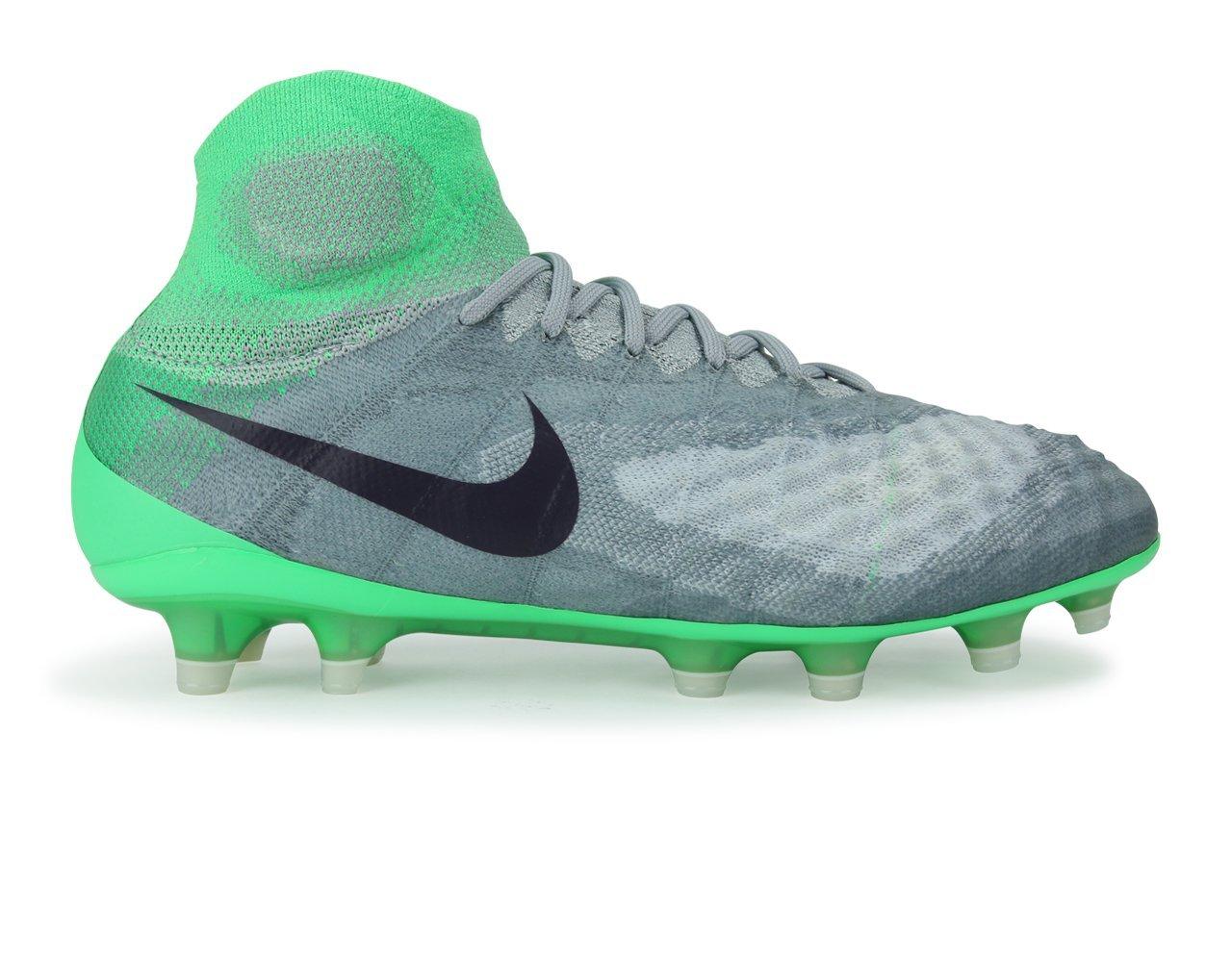 Nike Women's Magista Obra II FG Wolf Grey/Purple Dynasty/Electric Green Soccer Shoes - 6A