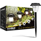 SANSUN Solar LED Path Light Outdoor Garden Lawn Landscape Waterproof Solar Stake Light (Set of 6)