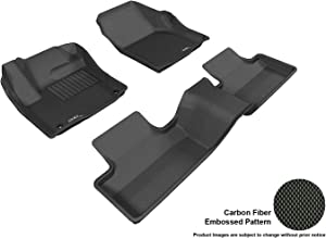 3D MAXpider L1LR00601509 Complete Set Custom Fit All-Weather Floor Mat for Select Land Rover Range Rover Evoque Models - Kagu Rubber (Black)