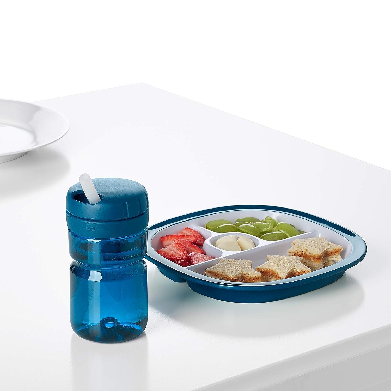 OXO Tot Twist Top Botella de agua azul marino