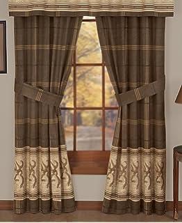 Browning Buckmark   Rod Pocket Curtains   42 X 84