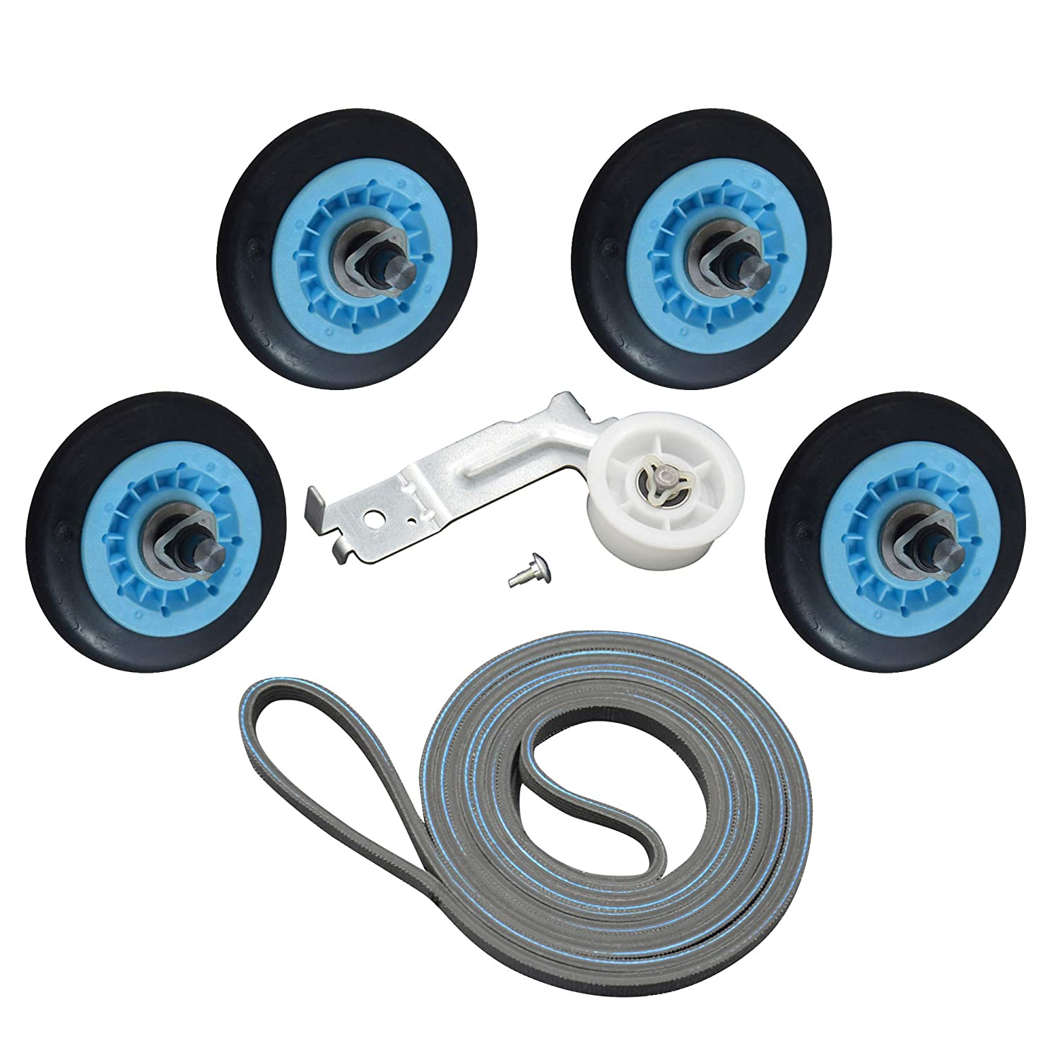 ATMA Dryer Repair Kit Replacement Samsung Dryer Belt Maintenance Kit Include DC97-16782A Roller DC93-00634A Indler Pulley 6602-001655 Belt Replace AP5325135 AP4373659 AP6038887 PS4221885 PS4133825