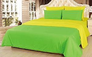 Tache Home Fashion DUALColorYellGree-K Comforter Set, King, Yellow/Green