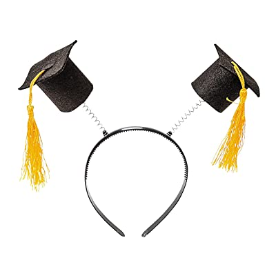 Fun Express - Mortarboard Head Boppers for Graduation - Apparel Accessories - Hats - Head Boppers - Graduation - 12 Pieces: Toys & Games