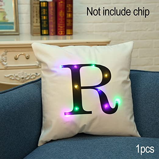 Christine Funda de cojín LED, Alfabeto Colorido, iluminación ...