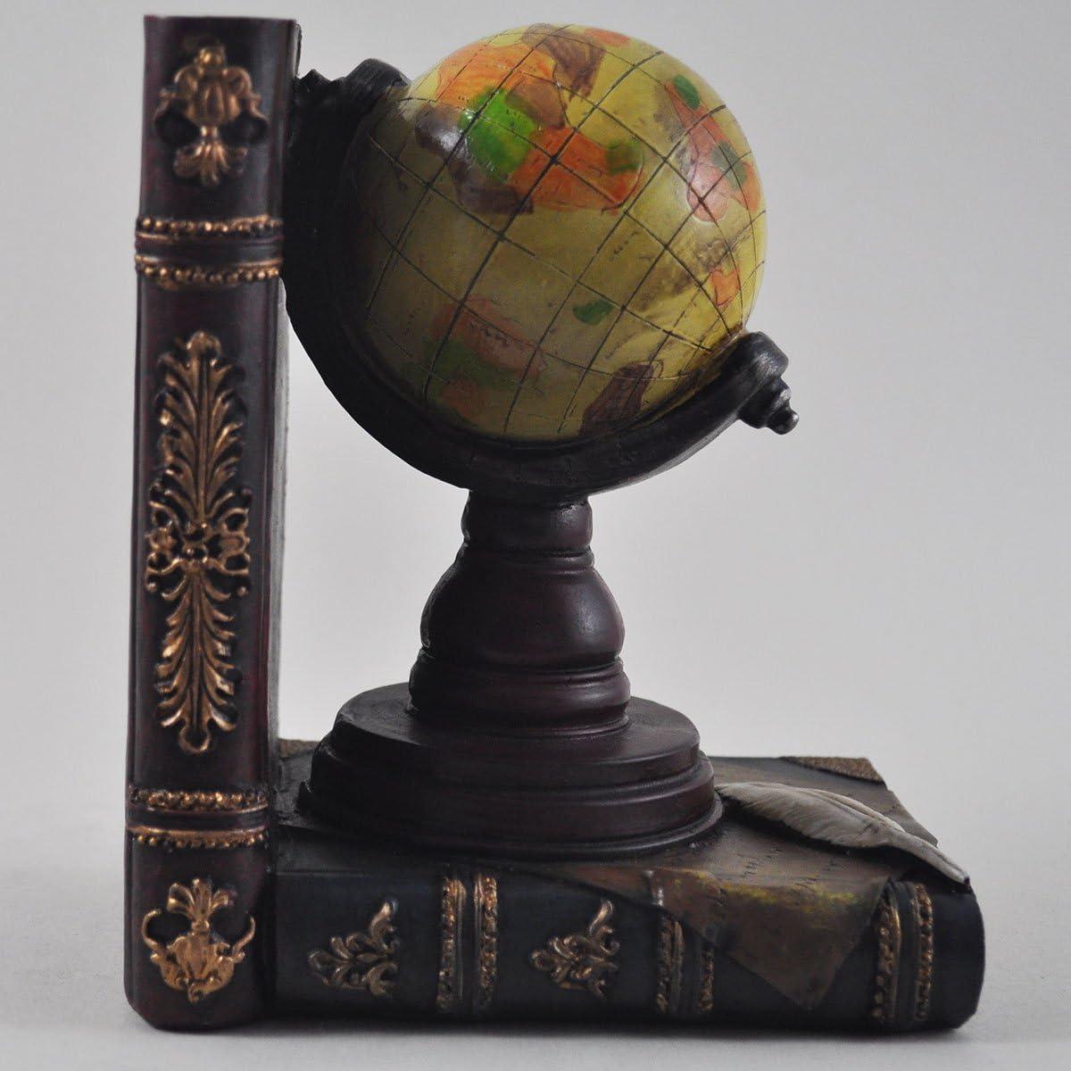 CD y m/ás sujeci/ón de libros organizador de estudio DVD Soportes de globo terr/áqueo y telescopio para estante oficina