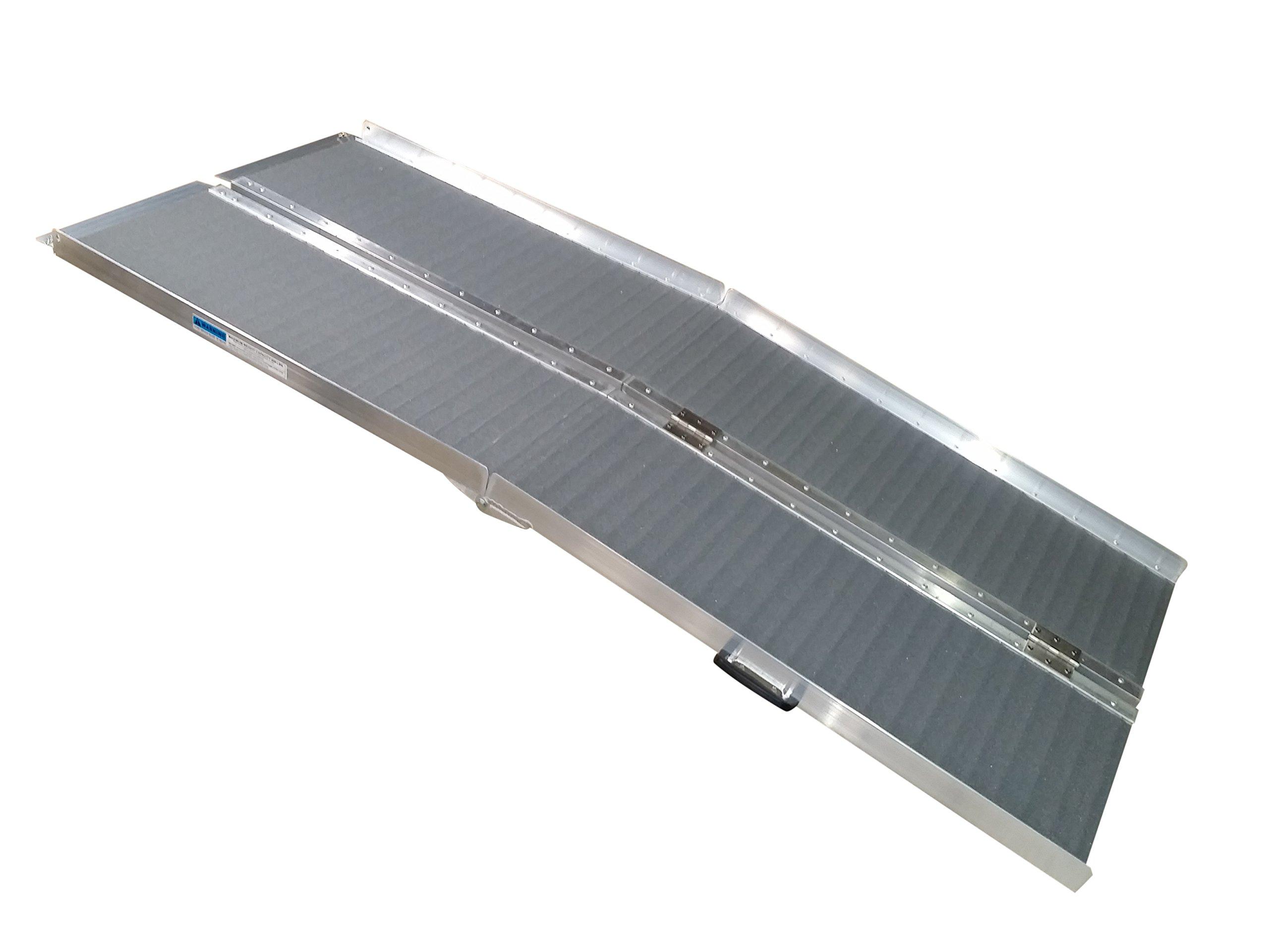 Wheelchair Ramp, 6 foot Bi-Folding Aluminum, Bi-fold, Grip Tape Surface