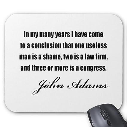 Amazon Zazzle Political Quotes By John Adams Mouse Pad Impressive Political Quotes