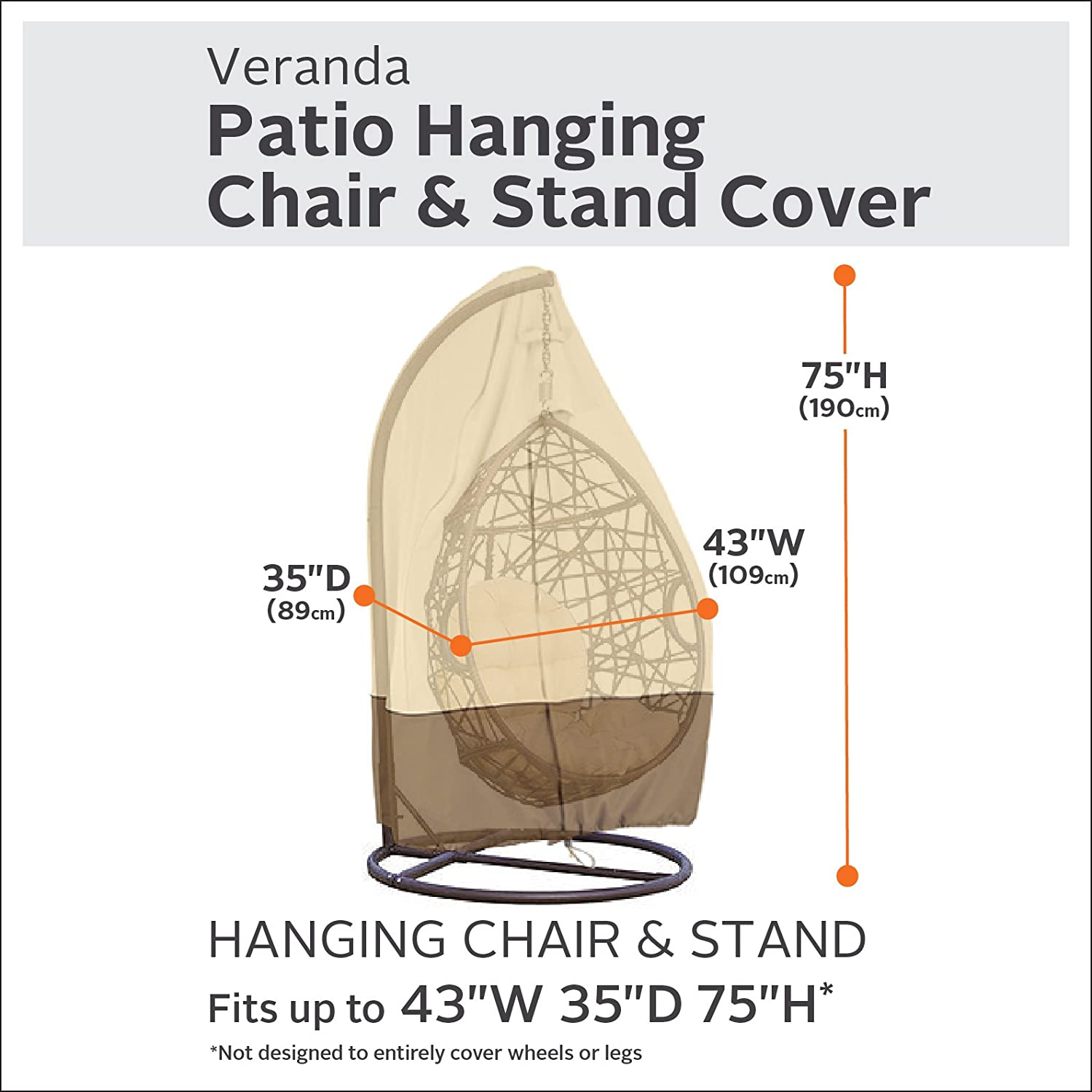 Classic Accessories Veranda Patio Hanging Chair And Stand Cover