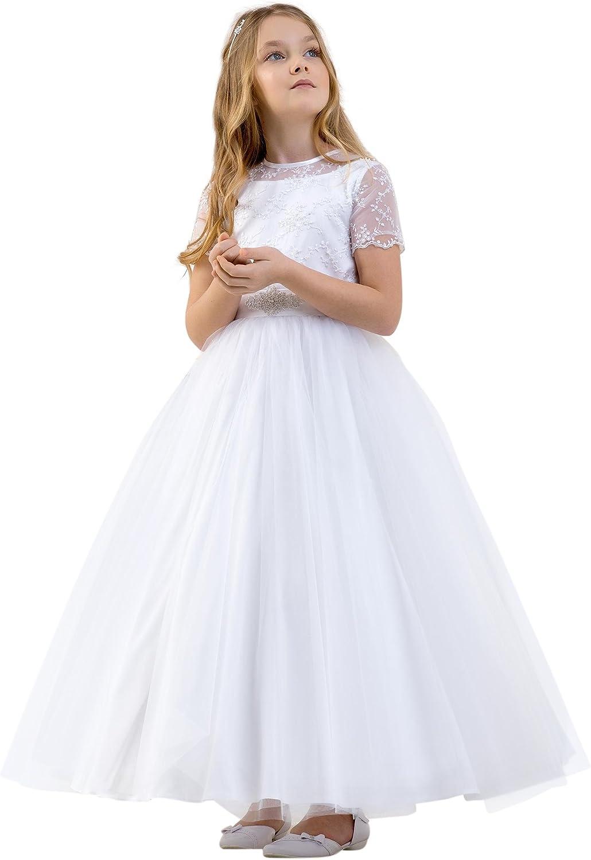 Lacey Bell Vestido Primera Comunion Dama Honor Falda de Tul ...