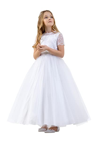 Lacey Bell Vestido Primera Comunion Dama Honor Falda de Tul Corpino de Saien CD-13