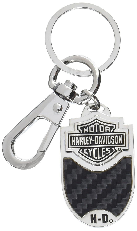 Harley-Davidson Schl/üsselanh/änger Bar /& Shield Karbonfaser Vinyl Inlay Schl/üsselanh/änger