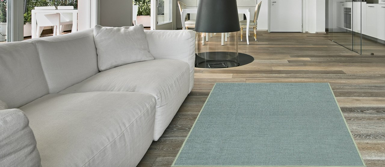 Maxy Home Hamam Solid Sage Green 5 ft. x 6 ft. 6 in. Rubber Backed Area Rug