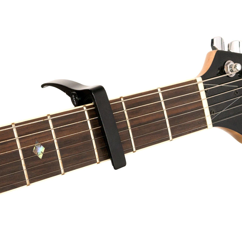 CASCHA HH 2037 - Cejilla para guitarra acústica y eléctrica, adecuado para guitarras con cuerdas de acero: Amazon.es: Instrumentos musicales