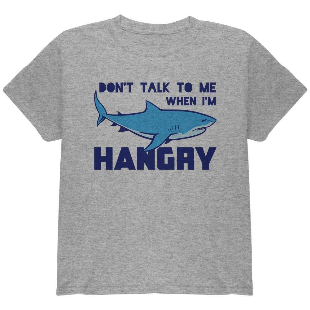 Old Glory Shark Sharks Don't Talk to me Hangry Youth T Shirt 00190014