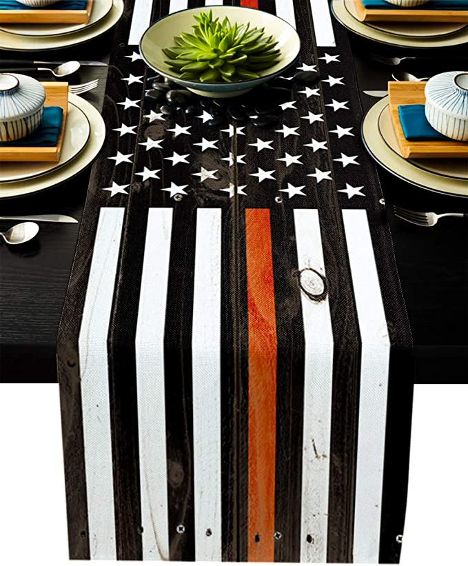 Thin Red Line Table Runner