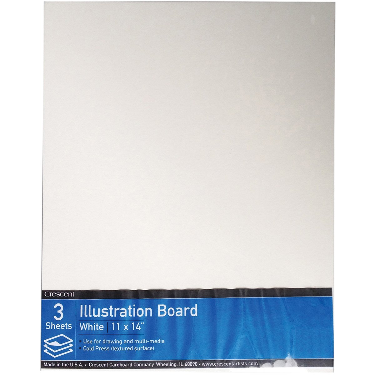 Crescent Creative Products VP99-1114#99 Illustration Board, Cold Press, Value Pack, 3 Count, 11 X 14 Size 11 X 14 Size Crescent Cardboard