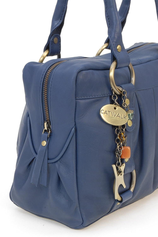 à Megan en Bleu Collection cuir main Sac Catwalk signé dgf1Udx
